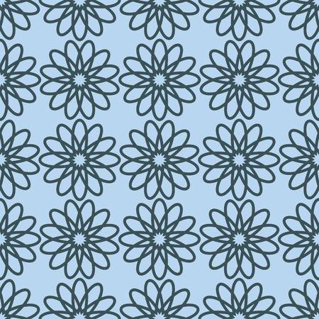 blumen verzierung: Seamless pattern with floral ornament.