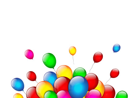 isolated: Color balloons on white background Illustration