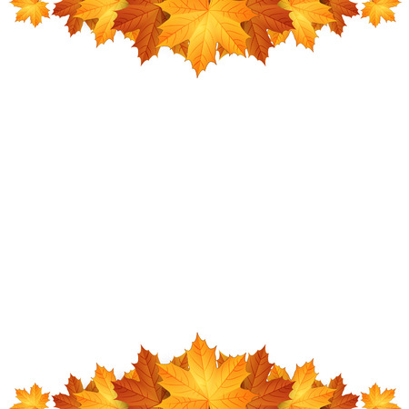 art border: Border of autumn maples leaves.