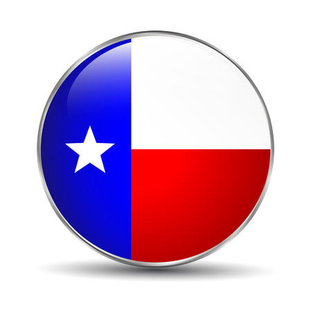 texas state flag: Texas State Flag Illustration