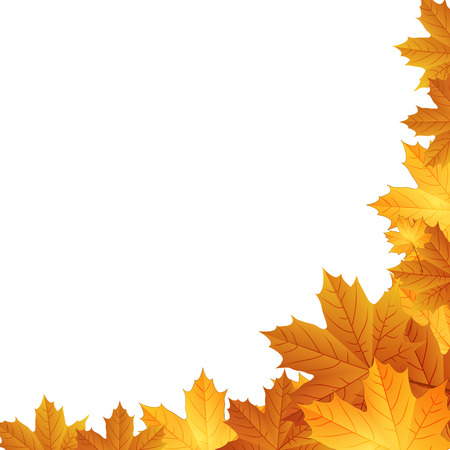 frame border: Autumn leaves background with space for text