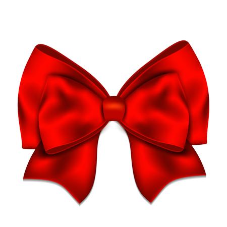 arc rouge réaliste isolé sur fond blanc. Vector illustration.