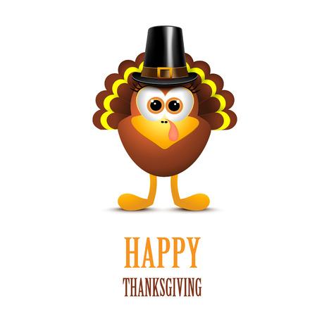 帽子のトルコと幸せな感謝祭。