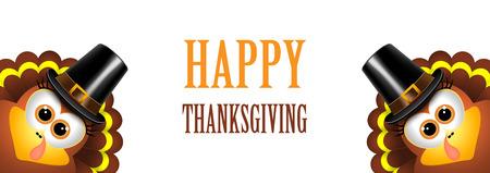 Kaart voor Thanksgiving Day op een witte achtergrond.