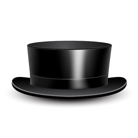 the rabbi: Illustration black cylinder hat on a white background.