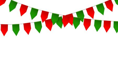 bunting flag: Colorful bunting flag isolated on white background. Vector illustration. Illustration