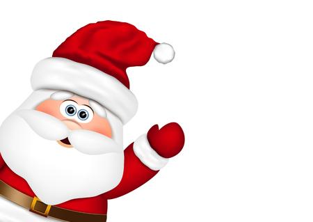santa clos: Pap� Noel mira desde el lado