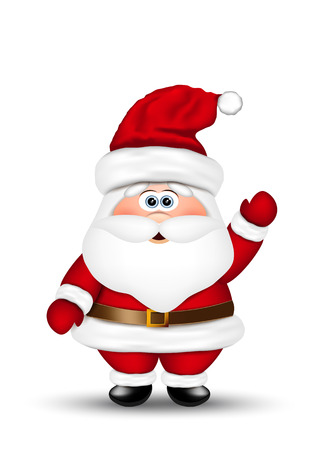 Santa claus on white background 矢量图像
