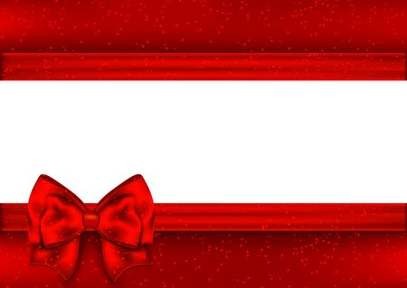 red tape: Template for greeting card. Border red tape.