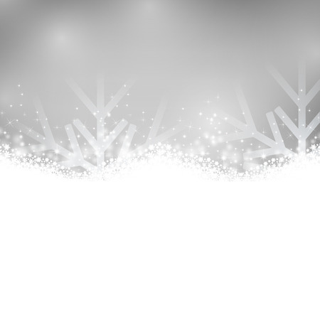 silver: Silver shiny background. Shiny silver background with snowflakes. Vector illustration.