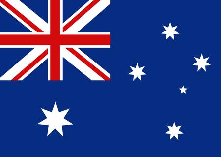 sidney: Flag of Australia. Vector illustration. Vector background. Illustration