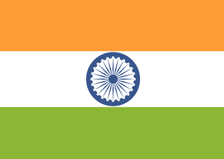 national flag: Flag of India.  Vector illustration. Vector background. Illustration
