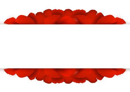 Arrière-plan de rouge pétales de rose. Vector illustration.