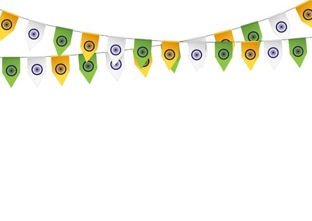 bunting flag: Bunting flag color of the flag India. Vector illustration. Illustration