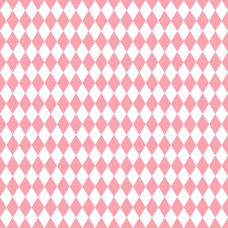 valentin: Pink rhombus valentin seamless background. Vector illustration.