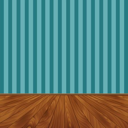 wooden floor: Wall and a wooden floor.  Vector illustration. Illustration