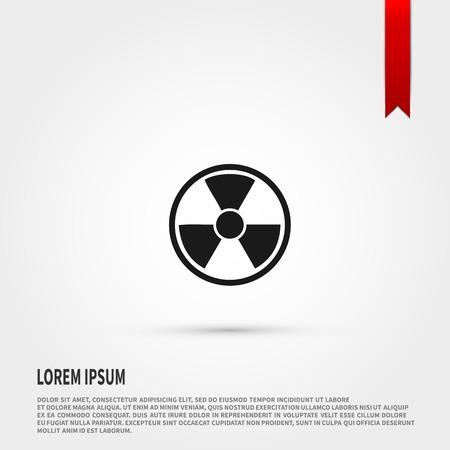 danger of radiation: Radiation icon . Radiation symbol. Danger concept. Flat design style. Template for design.