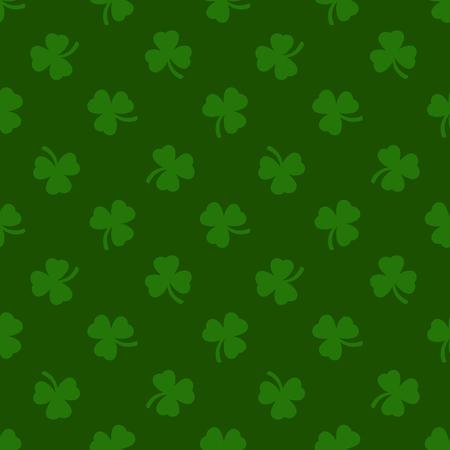 patrik: Clover leaves background. St. Patrick day background. Seamless pattern. Vector illustration.