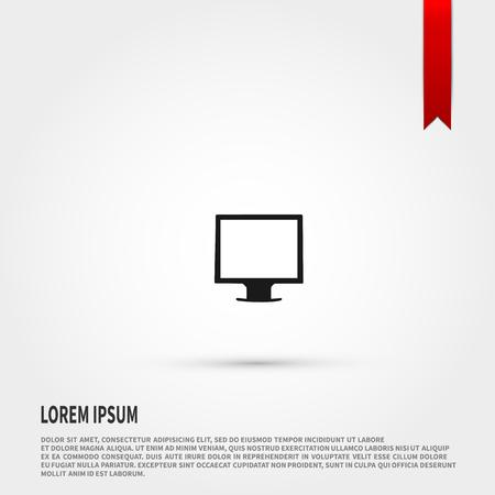 tv panel: Monitor icon. Monitor symbol. Flat design style. Template for design.