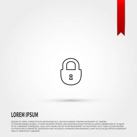 lock symbol: Lock icon. Lock symbol. Flat design style. Template for design.