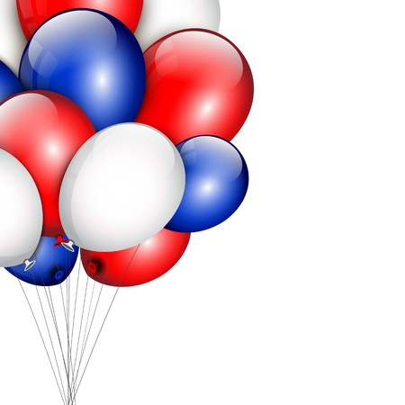 fourth birthday: Background with party balloons and place for your text.