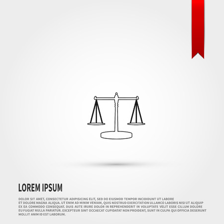 acquittal: Mechanical scales icon vector. Vector illustration. Illustration
