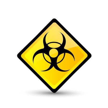 bio hazard: Bio hazard symbol. Vector illustration. Vector icon. Illustration