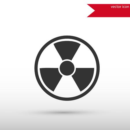 chemical hazards: Radiation icon . Radiation symbol. Danger concept. Flat design style. Template for design.