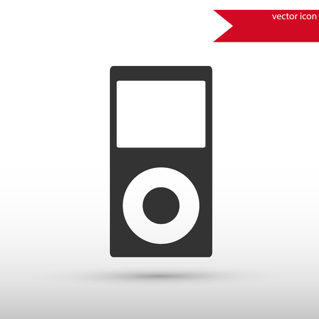 portable player: Portable media player icon. Portable media player symbol. Flat design style. Template for design.