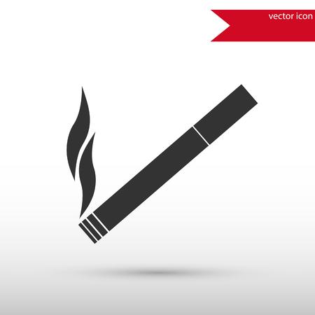 injurious: Black cigarette icon vector. Black cigarette icon JPEG. Vector illustration design element. Flat style design icon.