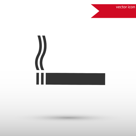 Black cigarette icon. Black cigarette symbol. Flat design style. Template for design. Illustration