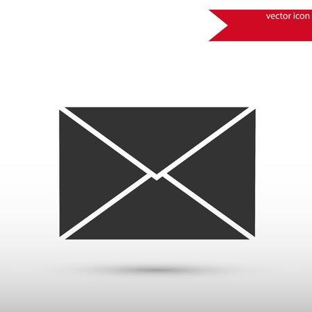 E-mailteken. Zwarte pictogramvector en jpg. Vlakke stijl object. Kunsttekening. Web pictogrammen.