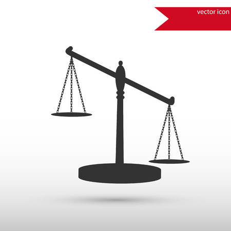 Scales of Justice. Black icon vector and jpg. Flat style object. Art picture drawing.   Elements for your design. Web icons.