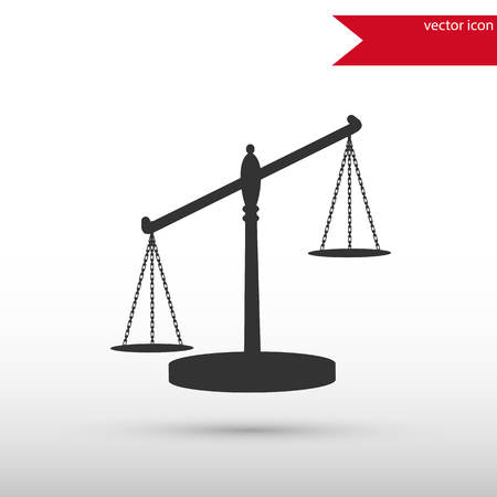 acquittal: Scales of Justice. Black icon vector and jpg. Flat style object. Art picture drawing.  Elements for your design. Web icons. Illustration