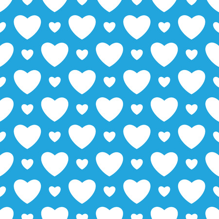 bavarian culture: Oktoberfest blue background with white hearts. Vector illustration