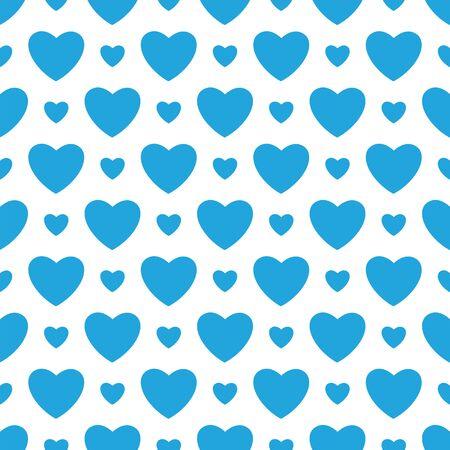 corazones azules: Fondo blanco con corazones azules. ilustraci�n vectorial