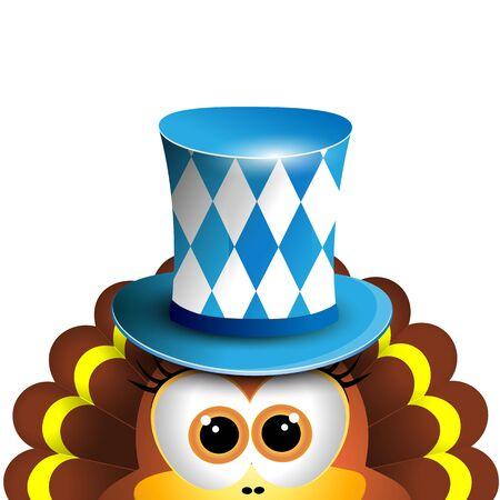 funny turkey: Funny turkey. Oktoberfest Card Design Template. Vector illustration. Hollyday background