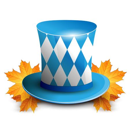 german culture: Oktoberfest German beer festival. Oktoberfest celebration design with Bavarian hat.