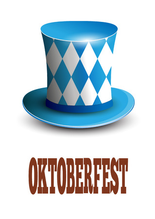 Oktoberfest German beer festival. Oktoberfest celebration design with Bavarian hat.