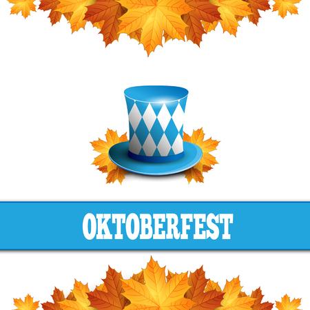 bavarian culture: Oktoberfest celebration design with Bavarian hat.