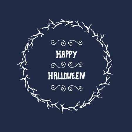 greeting card background: Halloween lettering greeting card background. Illustration
