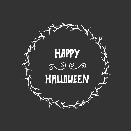 greeting card background: Halloween lettering greeting card background. Vector illustration.