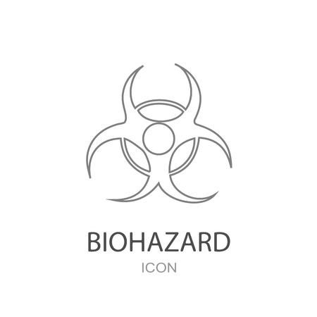 caution chemistry: Biohazard vector Icon on a white background. Illustration
