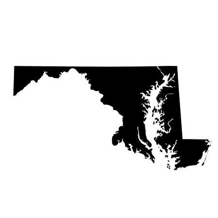 map of the U.S. state Maryland Иллюстрация
