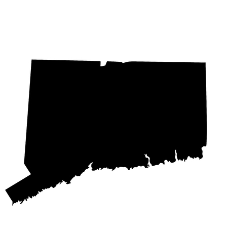 map of the U.S. state Connecticut