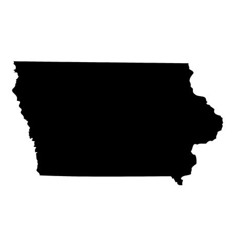 Kaart van de Amerikaanse staat Iowa