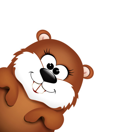 marmot: Happy Groundhog Day design. Illustration