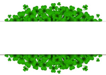 Saint Patricks Day Background with clover. Illustration