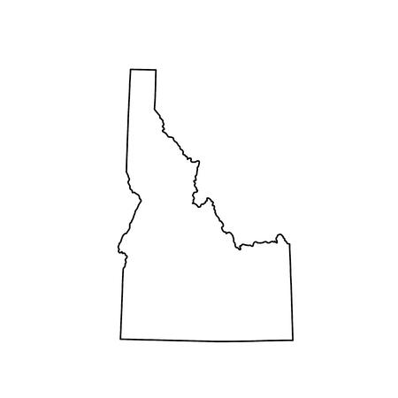 米国状態のアイダホ州の地図 写真素材 - 75266666
