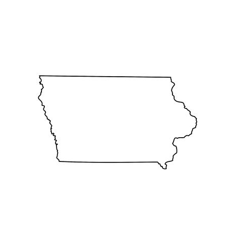 Carte de l'état américain Iowa Vecteurs